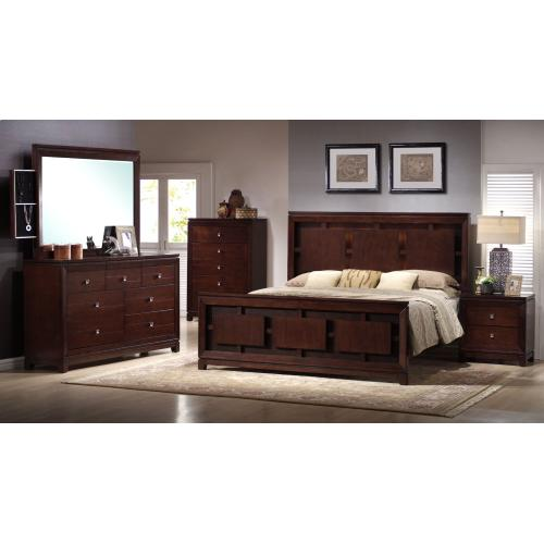 London Bedroom - Queen Bed, Dresser, Mirror, Chest, and Night Stand