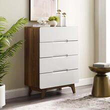 See Details - Origin Four-Drawer Chest or Stand in Walnut White