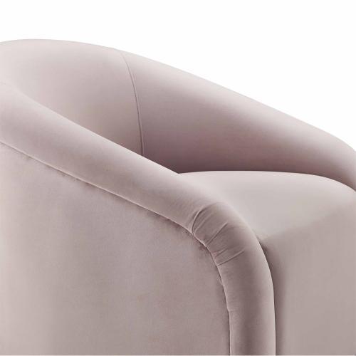Boboli Mauve Velvet Chair + Ottoman Set