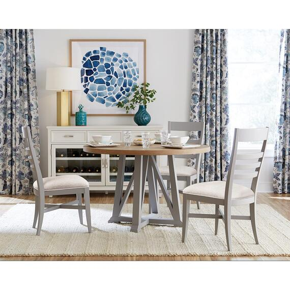 Riverside - Osborne - Round Dining Table Base - Gray Skies Finish