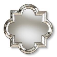 See Details - Baxton Studio Catia Art Deco Antique Silver Finished Quatrefoil Accent Wall Mirror