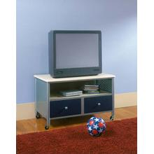 Brayden TV Stand Silver and Navy
