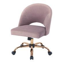 Lula Office Chair In Lavender Velvet Fabric