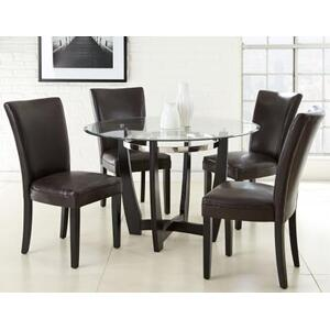 Matinee 5 Piece Set (Glass Top Table & 4 Side Chairs)
