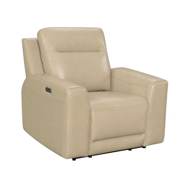 Doncella Dual-Power Leather Recliner Chair