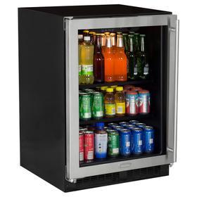 24-In Built-In High-Capacity Beverage Center with Door Swing - Left