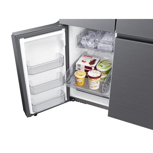 23 cu. ft. Smart Counter Depth 4-Door Flex™ refrigerator with AutoFill Water Pitcher and Dual Ice Maker in Black Stainless Steel