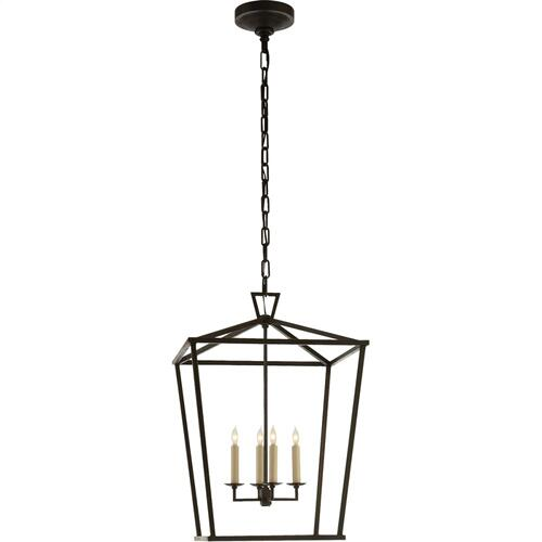 Visual Comfort CHC2165AI E. F. Chapman Darlana 4 Light 17 inch Aged Iron Foyer Lantern Ceiling Light