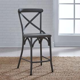 X Back Counter Chair - Grey