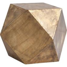 "Exagoni 26"" x 18.5"" Hexagonal Brass Plated Hexagonal End/Side Table"