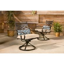See Details - Hanover Montclair Set of 2 Swivel Rockers in Tan, 11200-2SW-TANSL