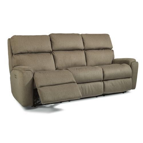 Flexsteel - Rio Power Reclining Sofa with Power Headrests