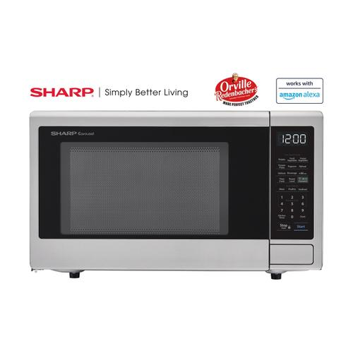 View Product - 1.1 cu. ft. 1000W Sharp Stainless Steel Smart Carousel Countertop Microwave Oven