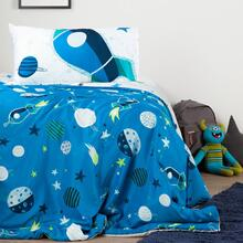 Cosmic Reversible Comforter and Pillowcase - Blue and Gray
