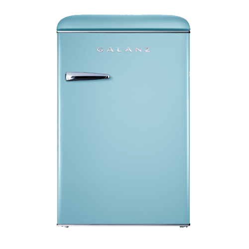 Galanz 3.1 Cu Ft Retro Upright Freezer in Bebop Blue