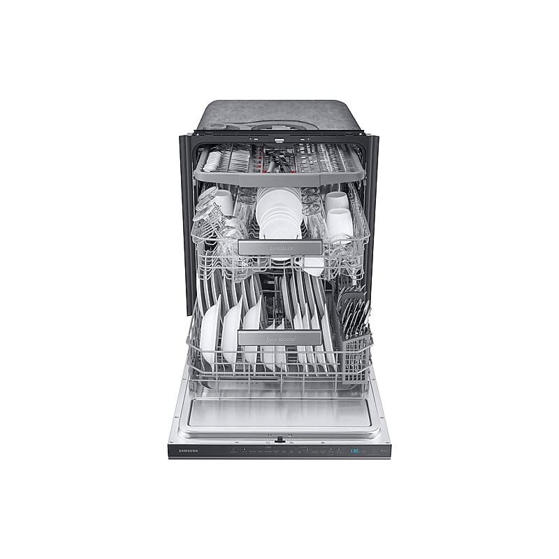Smart Linear Wash 39dBA Dishwasher in Black Stainless Steel