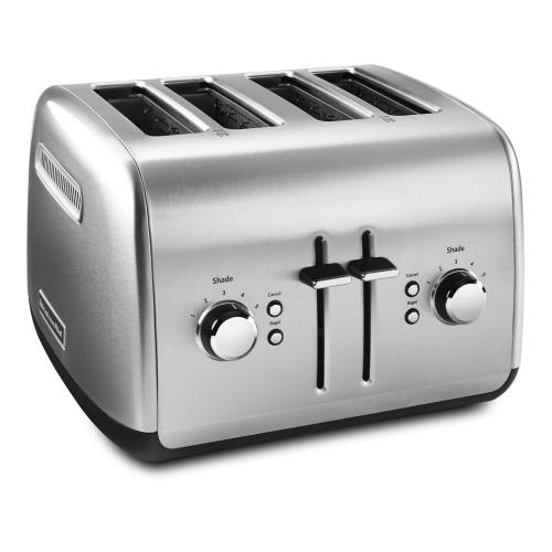 Gallery - 4-Slice Toaster with Manual High-Lift Lever - Brushed Stainless Steel