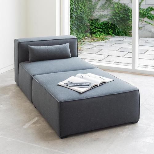 Product Image - Mix Modular Armless Chair Vegan Appleskin Leather Licorice