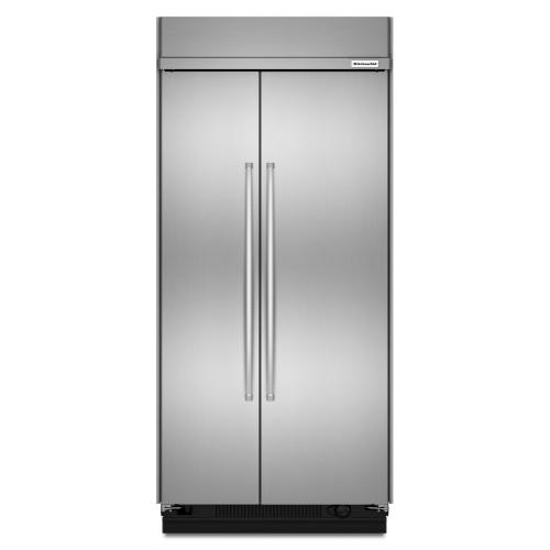 KitchenAid - 25.5 cu. ft 42-Inch Width Built-In Side by Side Refrigerator with PrintShield™ Finish - Stainless Steel with PrintShield™ Finish