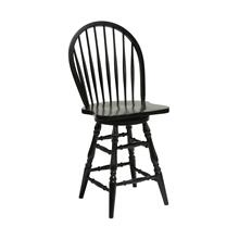 "Windswept Shores Windsor 24""h Swivel Barstool"