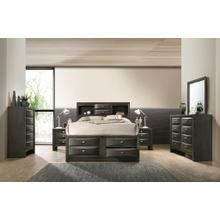 Leslie Bookcase Headboard Platform QUEEN & KING Bed, King