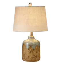 Rustic Natural & Grey Reactive Glaze Table Lamp with Bulb. 60W Max.(163176) (2 pc. assortment)