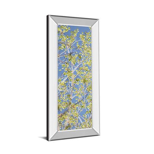 """""""Spring Poplars I"""" By Sharon Chandler Mirror Framed Print Wall Art"""