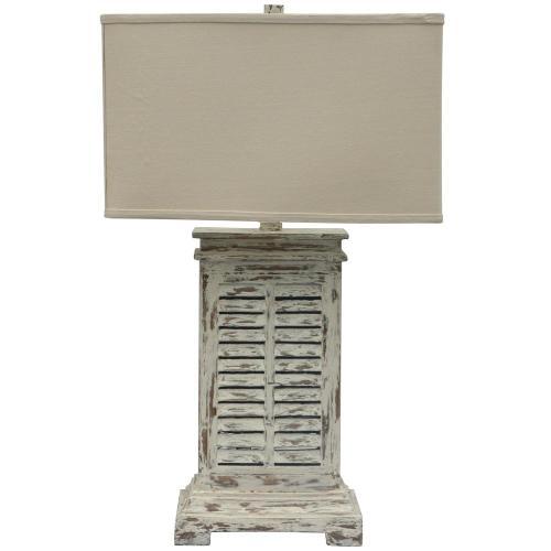 Antique Shutter Table Lamp