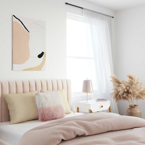 Tov Furniture - Tibetan Sheep Pillow White to Blush