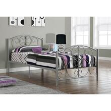 See Details - BED - TWIN SIZE / SILVER METAL FRAME ONLY