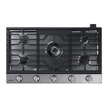 "36"" Smart Gas Cooktop with Illuminated Knobs in Stainless Steel"