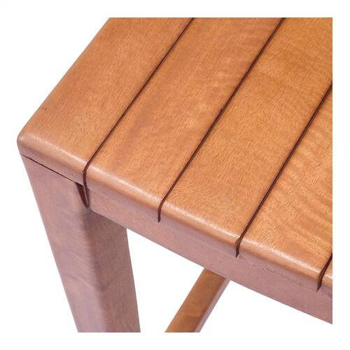 Elmo Wooden Counter Stool, Amber