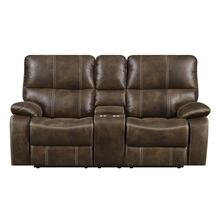 Emerald Home Jessie James Power Console Loveseat Chocolate Brown U7130-21-15