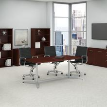 BBF Conference Tables 72W x 36D Boat Shaped Conference Table with Metal Base