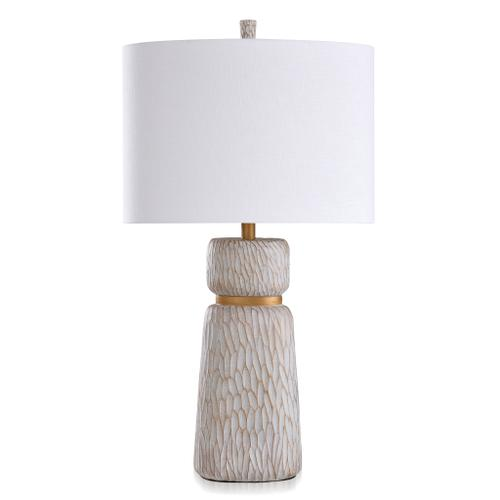 Product Image - ROANOKE & DUNBROOK  33in ht X 18in w X 18in d  Casual Table Lamp finished in Ivory & Gold  10