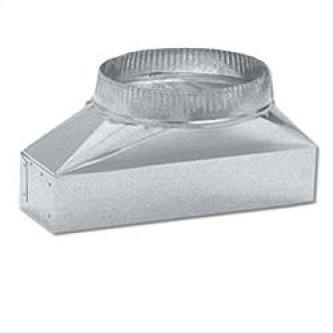 """3-1/4"""" x 14"""" to 7"""" Round Transition for Range Hoods"""