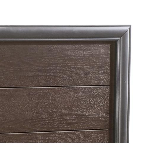 Prelude Queen Panel Bed Siderails Honey Black/brown