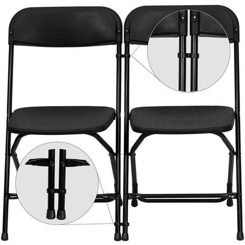 Flash Furniture - Black Plastic Ganging Clips - Set of 2