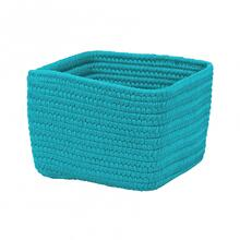 "Braided Craft Baskets Basket BC61 Aqua Blue 10"" X 6"""