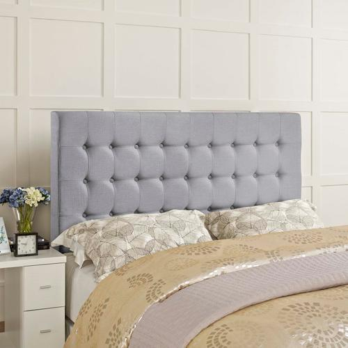 Modway - Tinble Queen Upholstered Fabric Headboard in Sky Gray