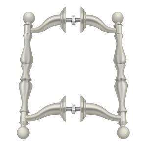 Deltana - Off-Set Handle Pull, Back-To-Back Set - Brushed Nickel