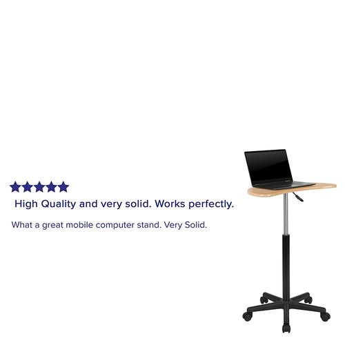 Flash Furniture - Maple Sit to Stand Mobile Laptop Computer Desk
