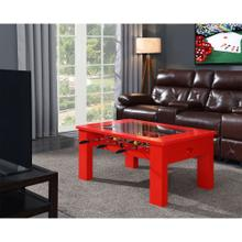Hanover Foosball Coffee Table in Red, HGFB02-RED