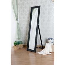 7057 BLACK Full Length Standing Mirror
