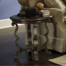 Round Side Table - Terra Sienna Finish
