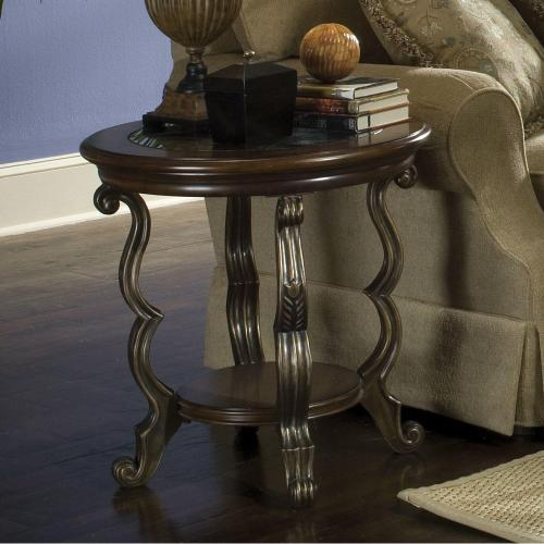 Round Side Table - Terra Sienna Finish