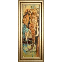 """New Safari On Teal Il"" By Patricia Pinto Framed Print Wall Art"