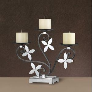 Cal Lighting & Accessories - LONIA MIRROR/IRON CANDLE HOLDER