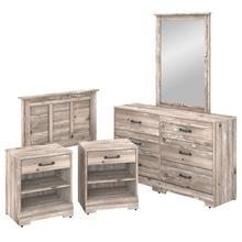 River Brook Bedroom 5 Piece Twin Size Bedroom Set - Barnwood