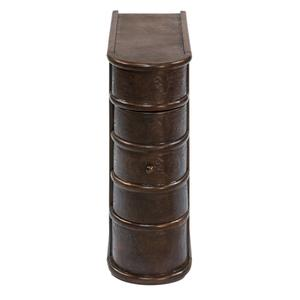 Barnes Leather Book Side Table